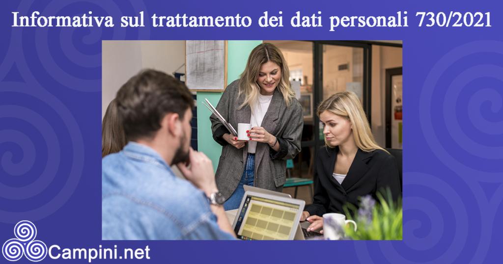 Informativa sul trattamento dei dati personali 730/2021