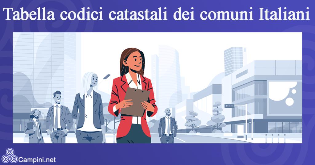 Tabella codici catastali dei comuni Italiani